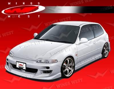 VIS Racing - Honda Civic 2DR & Hatchback VIS Racing JPC Type A Front Bumper - 92HDCVC2DJPCA-001