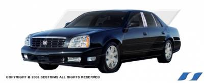 SES Trim - Cadillac DeVille SES Trim Pillar Post - 304 Mirror Shine Stainless Steel - 6PC - P113