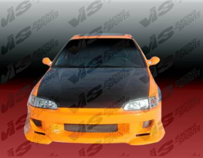 VIS Racing - Honda Civic 2DR & HB VIS Racing Strada F1 Front Bumper - 92HDCVC2DSF1-001