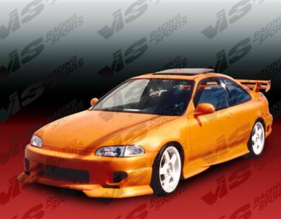 VIS Racing - Honda Civic 2DR & HB VIS Racing Strada F2 Front Bumper - 92HDCVC2DSF2-001