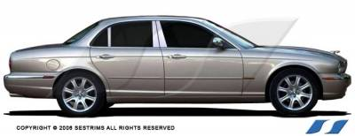 SES Trim - Jaguar XJ8 SES Trim Pillar Post - 304 Mirror Shine Stainless Steel - 6PC - P117