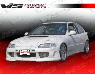 VIS Racing - Honda Civic 2DR & HB VIS Racing Servo Front Bumper - 92HDCVC2DSV-001