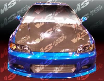 VIS Racing - Honda Civic 2DR & HB VIS Racing Tracer Front Bumper - 92HDCVC2DTRA-001