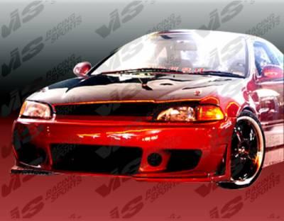 VIS Racing - Honda Civic 2DR & HB VIS Racing TSC-3 Front Bumper - 92HDCVC2DTSC3-001