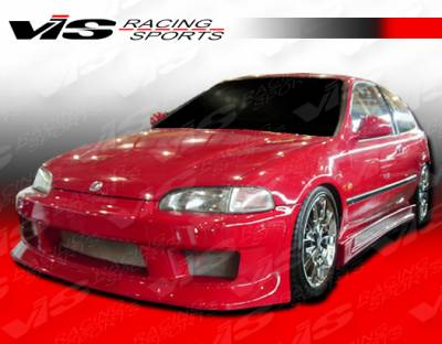 VIS Racing - Honda Civic 2DR & HB VIS Racing V Speed Front Bumper - 92HDCVC2DVSP-001