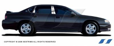 SES Trim - Chevrolet Impala SES Trim Pillar Post - 304 Mirror Shine Stainless Steel - 6PC - P124
