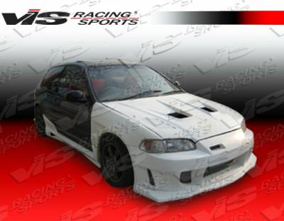 VIS Racing - Honda Civic 2DR & HB VIS Racing Wings Front Bumper - 92HDCVC2DWIN-001