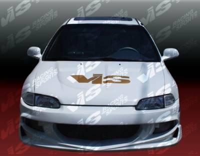 VIS Racing - Honda Civic 2DR VIS Racing XGT Front Bumper - 92HDCVC2DXGT-001