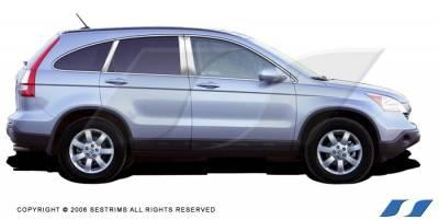SES Trim - Honda CRV SES Trim Pillar Post - 304 Mirror Shine Stainless Steel - 6PC - P126