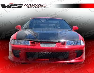 VIS Racing - Honda Prelude VIS Racing Kombat Front Bumper - 92HDPRE2DKOM-001