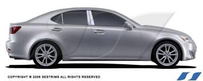 SES Trim - Lexus IS SES Trim Pillar Post - 304 Mirror Shine Stainless Steel - 6PC - P138