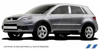 SES Trim - Acura RDX SES Trim Pillar Post - 304 Mirror Shine Stainless Steel - 4PC - P140