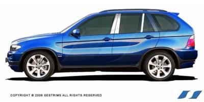 SES Trim - BMW X5 SES Trim Pillar Post - 304 Mirror Shine Stainless Steel - 6PC - P144
