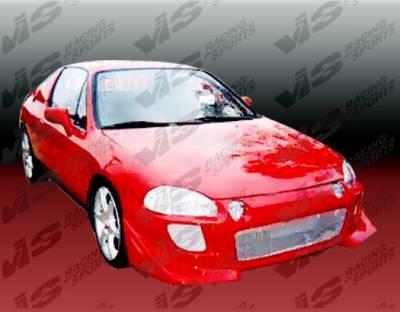 VIS Racing - Honda Del Sol VIS Racing Battle Z Front Bumper - 93HDDEL2DBZ-001