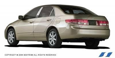 SES Trim - Honda Accord SES Trim Pillar Post - 304 Mirror Shine Stainless Steel - 6PC - P146