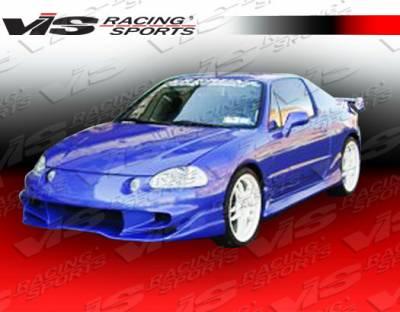 VIS Racing - Honda Del Sol VIS Racing Invader-6 Front Bumper - 93HDDEL2DINV6-001