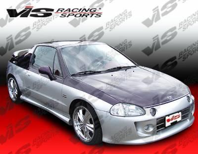 VIS Racing - Honda Del Sol VIS Racing Techno R Front Bumper - 93HDDEL2DTNR-001