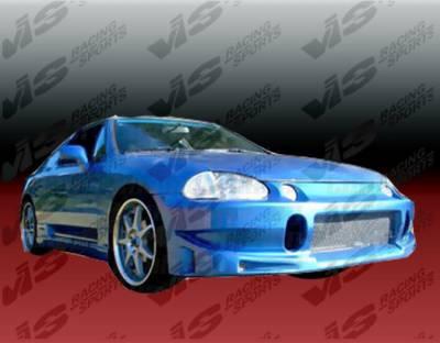 VIS Racing - Honda Del Sol VIS Racing TSC Front Bumper - 93HDDEL2DTSC-001