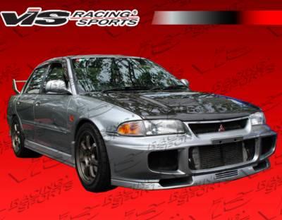 VIS Racing - Mitsubishi Mirage 4DR VIS Racing Evolution-3 Front Bumper - 93MTMIR4DEVO3-001