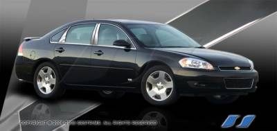 SES Trim - Chevrolet Impala SES Trim Pillar Post - 304 Mirror Shine Stainless Steel - 6PC - P167