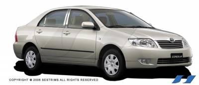 SES Trim - Toyota Corolla SES Trim Pillar Post - 304 Mirror Shine Stainless Steel - 6PC - P171