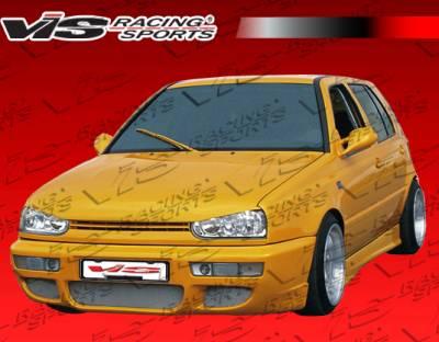 VIS Racing - Volkswagen Golf VIS Racing RSR Front Bumper - 93VWGOF2DRSR-001