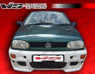 VIS Racing - Volkswagen Golf VIS Racing R Tech Front Bumper - 93VWGOF2DRTH-001