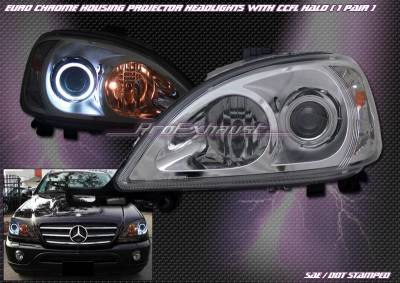 CCFL - Chrome Headlights Halo CCFL