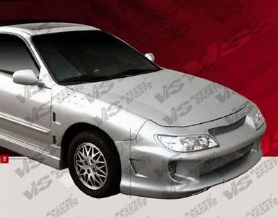 VIS Racing - Acura Integra VIS Racing Kombat Front Bumper with CL Headlights - 94ACINT2DCKOM-01H