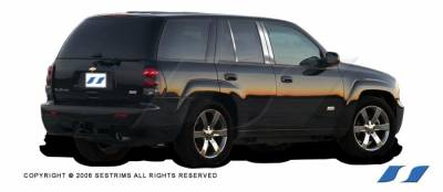 SES Trim - Chevrolet Trail Blazer SES Trim Pillar Post - 304 Mirror Shine Stainless Steel - 6PC - P180