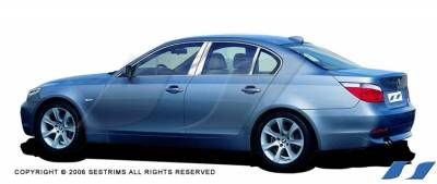 SES Trim - BMW 5 Series SES Trim Pillar Post - 304 Mirror Shine Stainless Steel - 6PC - P181