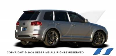 SES Trim - Volkswagen Touareg SES Trim Pillar Post - 304 Mirror Shine Stainless Steel - 6PC - P187