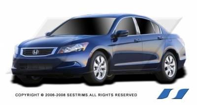 SES Trim - Honda Accord 4DR SES Trim Pillar Post - 304 Mirror Shine Stainless Steel - 6PC - P189