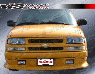 VIS Racing - Chevrolet S10 VIS Racing Xtreme Front Add-On Lip - Polyurethane - 94CHS102DEX-011P