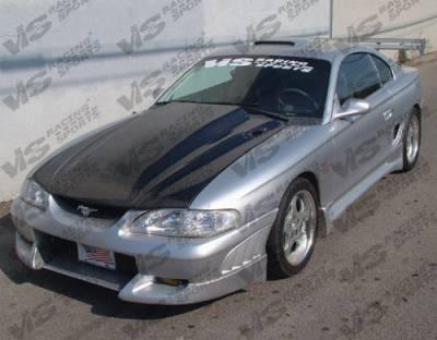 VIS Racing - Ford Mustang VIS Racing Viper Front Bumper - 94FDMUS2DVR-001