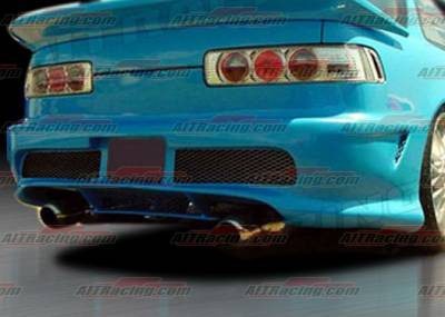 AIT Racing - Acura Integra AIT Racing Combat-2 Style Rear Bumper - AI90HICBIIRB2