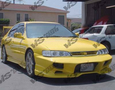 VIS Racing - Honda Accord 2DR & 4DR VIS Racing Invader 1 Front Bumper - 94HDACC2DV6INV-001