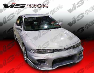 VIS Racing - Mitsubishi Galant VIS Racing Invader Front Bumper - 94MTGAL4DINV-001
