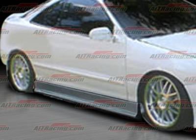 AIT Racing - Acura Integra 4DR AIT Racing EVO3 Style Side Skirts - AI94HIEVO3SS4