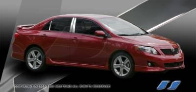 SES Trim - Toyota Corolla SES Trim Pillar Post - 304 Mirror Shine Stainless Steel - 6PC - P208