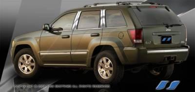 SES Trim - Jeep Grand Cherokee SES Trim Pillar Post - 304 Mirror Shine Stainless Steel - 8PC - P216