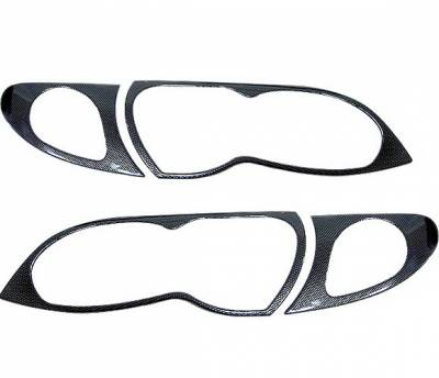4CarOption - BMW 3 Series 4CarOption Headlight Cover - ALF-B41-CF