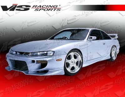 VIS Racing - Nissan 240SX VIS Racing Invader Front Bumper - 95NS2402DINV-001