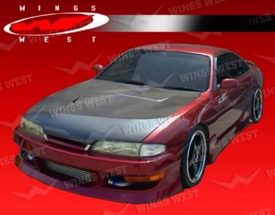 VIS Racing - Nissan 240SX VIS Racing JPC Type 1 Front Bumper - 95NS2402DJPC1-001