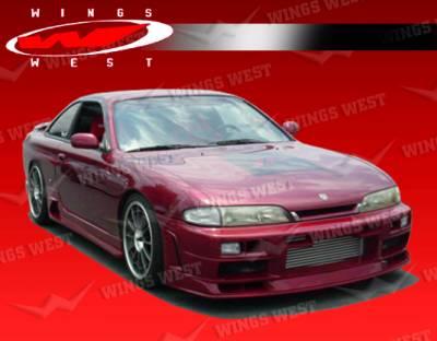 VIS Racing - Nissan 240SX VIS Racing JPC Type N Front Bumper - 95NS2402DJPCN-001