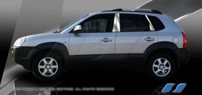 SES Trim - Hyundai Tucson SES Trim Pillar Post - 304 Mirror Shine Stainless Steel - 6PC - P220