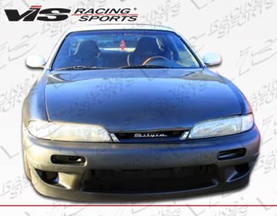 VIS Racing - Nissan 240SX VIS Racing Quad Six Front Bumper - 95NS2402DQS-001