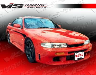 VIS Racing - Nissan 240SX VIS Racing Techno R Front Bumper - 95NS2402DTNR-001