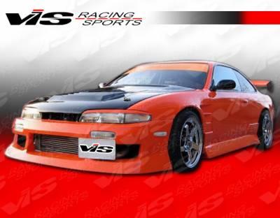 VIS Racing - Nissan 240SX VIS Racing V Spec-4 Front Bumper - 95NS2402DVSC4-001