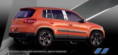 SES Trim - Volkswagen Tiguan SES Trim Pillar Post - 304 Mirror Shine Stainless Steel - 10PC - P225